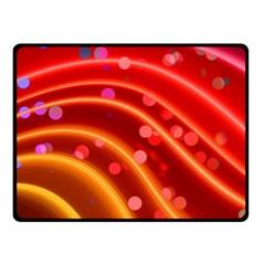 Bokeh Lines Wave Points Swing Fleece Blanket (Small)