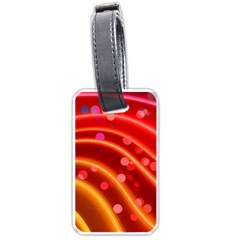 Bokeh Lines Wave Points Swing Luggage Tags (two Sides)