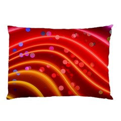 Bokeh Lines Wave Points Swing Pillow Case (two Sides)