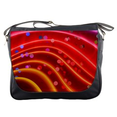 Bokeh Lines Wave Points Swing Messenger Bags