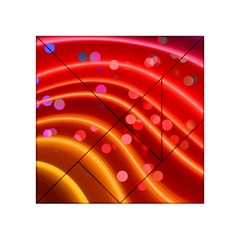 Bokeh Lines Wave Points Swing Acrylic Tangram Puzzle (4  X 4 )