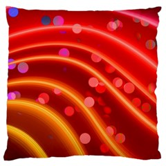 Bokeh Lines Wave Points Swing Large Cushion Case (one Side)