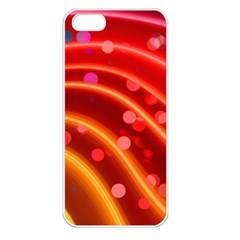 Bokeh Lines Wave Points Swing Apple Iphone 5 Seamless Case (white)
