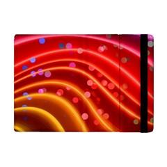 Bokeh Lines Wave Points Swing Apple Ipad Mini Flip Case