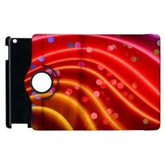 Bokeh Lines Wave Points Swing Apple Ipad 3/4 Flip 360 Case