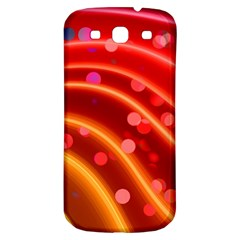 Bokeh Lines Wave Points Swing Samsung Galaxy S3 S Iii Classic Hardshell Back Case