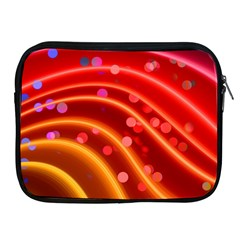 Bokeh Lines Wave Points Swing Apple Ipad 2/3/4 Zipper Cases
