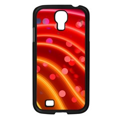 Bokeh Lines Wave Points Swing Samsung Galaxy S4 I9500/ I9505 Case (black)