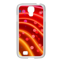 Bokeh Lines Wave Points Swing Samsung Galaxy S4 I9500/ I9505 Case (white)