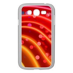 Bokeh Lines Wave Points Swing Samsung Galaxy Grand Duos I9082 Case (white)