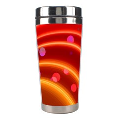 Bokeh Lines Wave Points Swing Stainless Steel Travel Tumblers