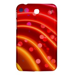 Bokeh Lines Wave Points Swing Samsung Galaxy Tab 3 (7 ) P3200 Hardshell Case