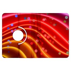 Bokeh Lines Wave Points Swing Kindle Fire HDX Flip 360 Case