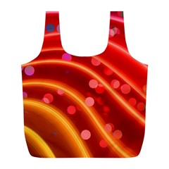 Bokeh Lines Wave Points Swing Full Print Recycle Bags (l)