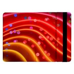 Bokeh Lines Wave Points Swing Samsung Galaxy Tab Pro 12 2  Flip Case