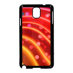 Bokeh Lines Wave Points Swing Samsung Galaxy Note 3 Neo Hardshell Case (black)
