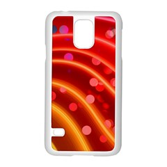 Bokeh Lines Wave Points Swing Samsung Galaxy S5 Case (white)