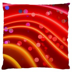 Bokeh Lines Wave Points Swing Large Flano Cushion Case (Two Sides)