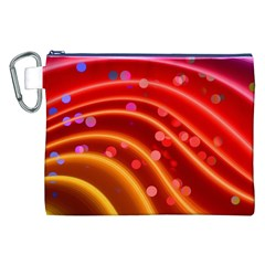 Bokeh Lines Wave Points Swing Canvas Cosmetic Bag (xxl)