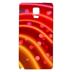 Bokeh Lines Wave Points Swing Galaxy Note 4 Back Case