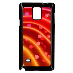 Bokeh Lines Wave Points Swing Samsung Galaxy Note 4 Case (black)