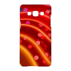 Bokeh Lines Wave Points Swing Samsung Galaxy A5 Hardshell Case
