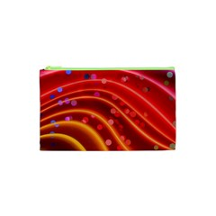 Bokeh Lines Wave Points Swing Cosmetic Bag (xs)