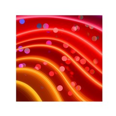Bokeh Lines Wave Points Swing Small Satin Scarf (square)