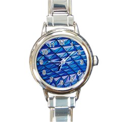 Lines Geometry Architecture Texture Round Italian Charm Watch