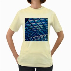 Lines Geometry Architecture Texture Women s Yellow T-Shirt