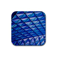 Lines Geometry Architecture Texture Rubber Coaster (square)