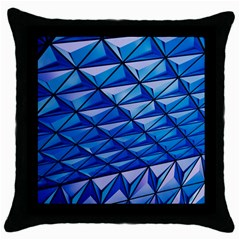 Lines Geometry Architecture Texture Throw Pillow Case (black)