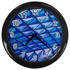 Lines Geometry Architecture Texture Wall Clocks (Black)