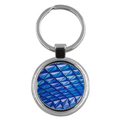 Lines Geometry Architecture Texture Key Chains (Round)
