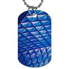 Lines Geometry Architecture Texture Dog Tag (one Side)