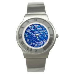 Lines Geometry Architecture Texture Stainless Steel Watch