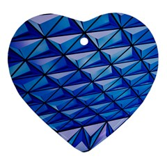 Lines Geometry Architecture Texture Heart Ornament (two Sides)