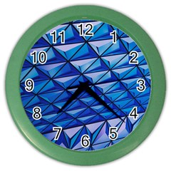 Lines Geometry Architecture Texture Color Wall Clocks