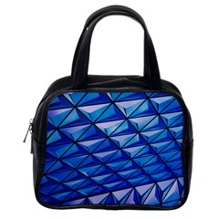 Lines Geometry Architecture Texture Classic Handbags (one Side)