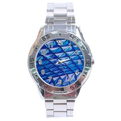 Lines Geometry Architecture Texture Stainless Steel Analogue Watch