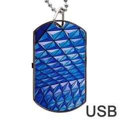 Lines Geometry Architecture Texture Dog Tag Usb Flash (two Sides)