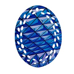 Lines Geometry Architecture Texture Oval Filigree Ornament (two Sides)