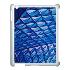 Lines Geometry Architecture Texture Apple iPad 3/4 Case (White)