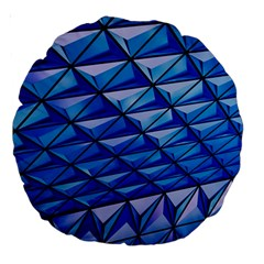 Lines Geometry Architecture Texture Large 18  Premium Round Cushions