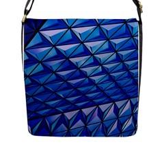 Lines Geometry Architecture Texture Flap Messenger Bag (L)