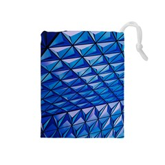 Lines Geometry Architecture Texture Drawstring Pouches (medium)
