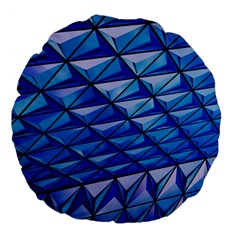 Lines Geometry Architecture Texture Large 18  Premium Flano Round Cushions