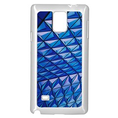 Lines Geometry Architecture Texture Samsung Galaxy Note 4 Case (white)