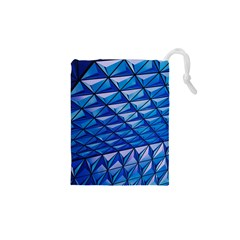 Lines Geometry Architecture Texture Drawstring Pouches (XS)