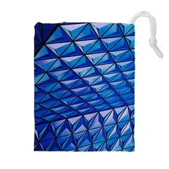 Lines Geometry Architecture Texture Drawstring Pouches (extra Large)